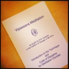 Vipassana, een 10-daagse retraite in meditatie