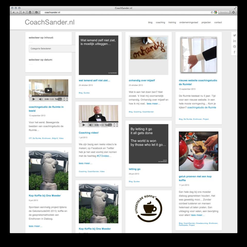 nieuwe website Coachsander.nl 1