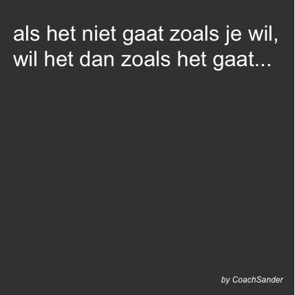 als het niet gaat zoals je wil - CoachSander.nl