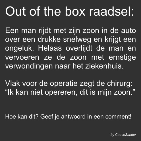 Out of the box raadsel - CoachSander.nl
