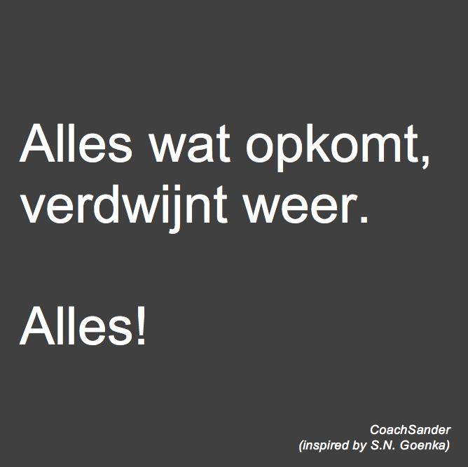 Alles wat opkomt - CoachSander.nl