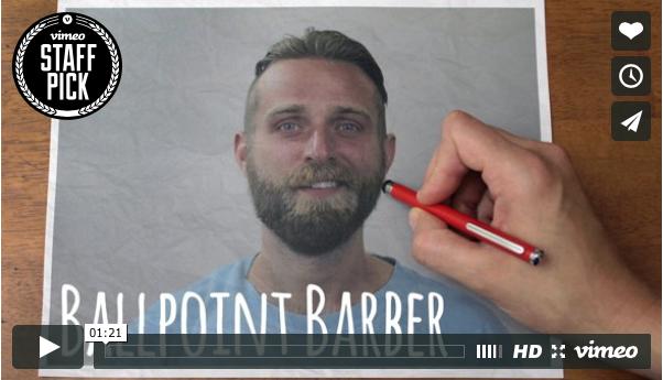 stop-motion op z'n best Ballpoint Barber - CoachSander.nl