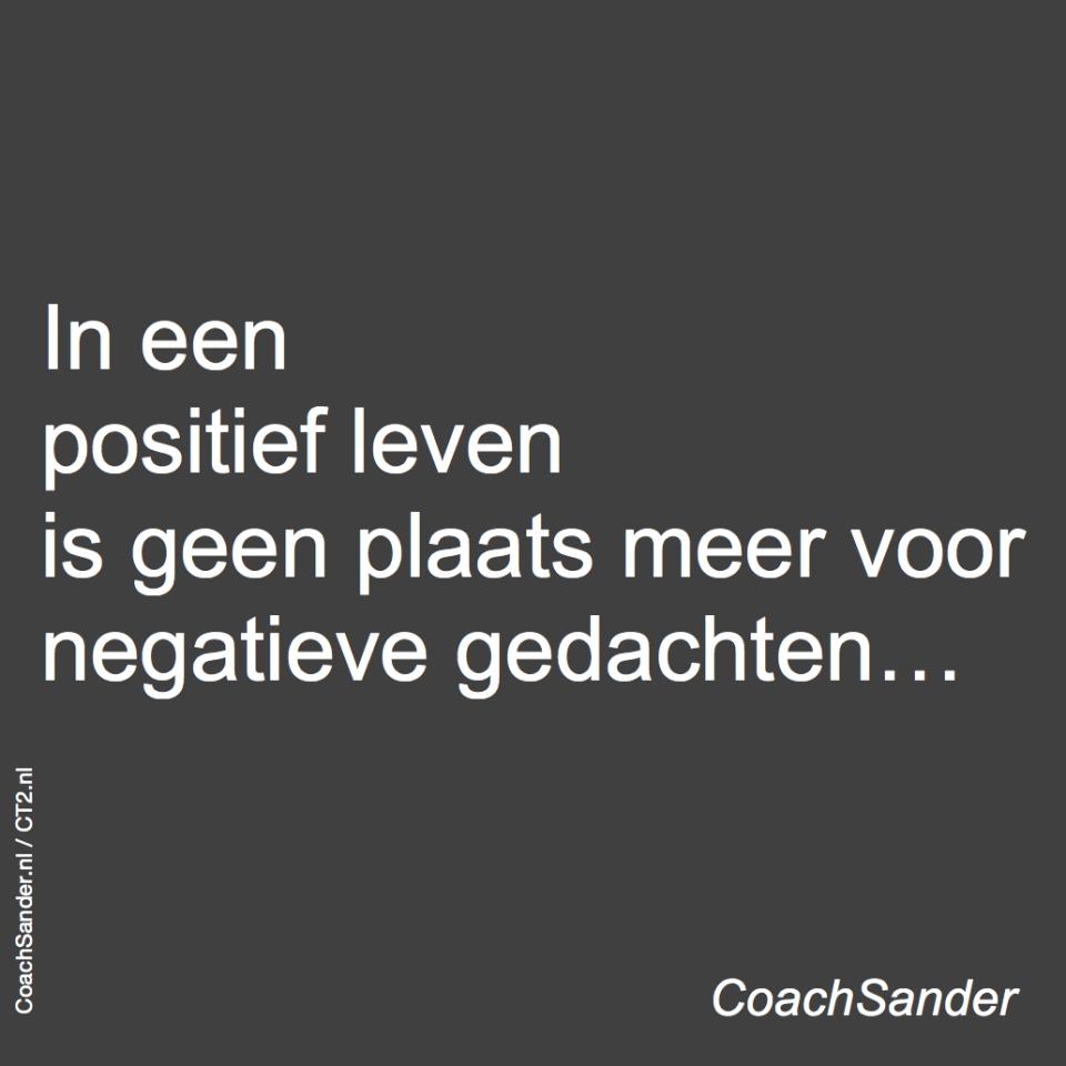 positief leven - CoachSander.nl