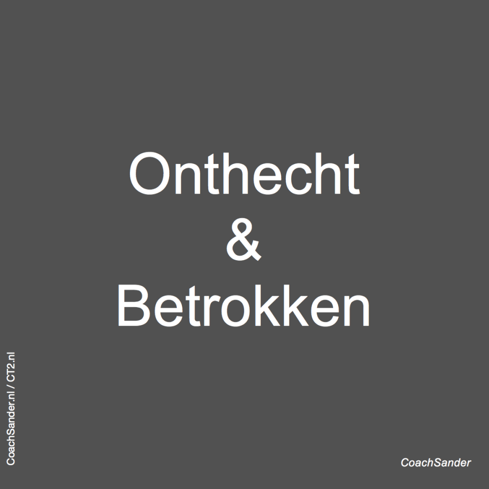 Onthecht en Betrokken - CoachSander.nl