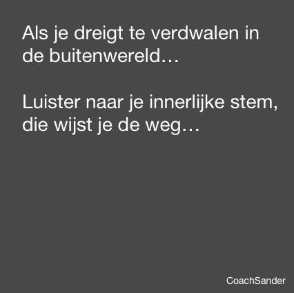 als je dreigt te verdwalen - CoachSander.nl