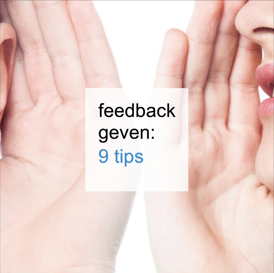 feedback geven 9 tips - CT2.nl