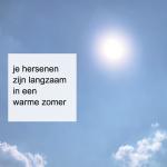 ook jouw hersenen zijn langzaam in een warme  zomer