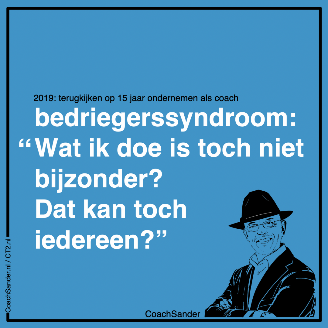 bedriegerssyndroom - wat ik doe is toch niet bijzonder - CoachSander.nl