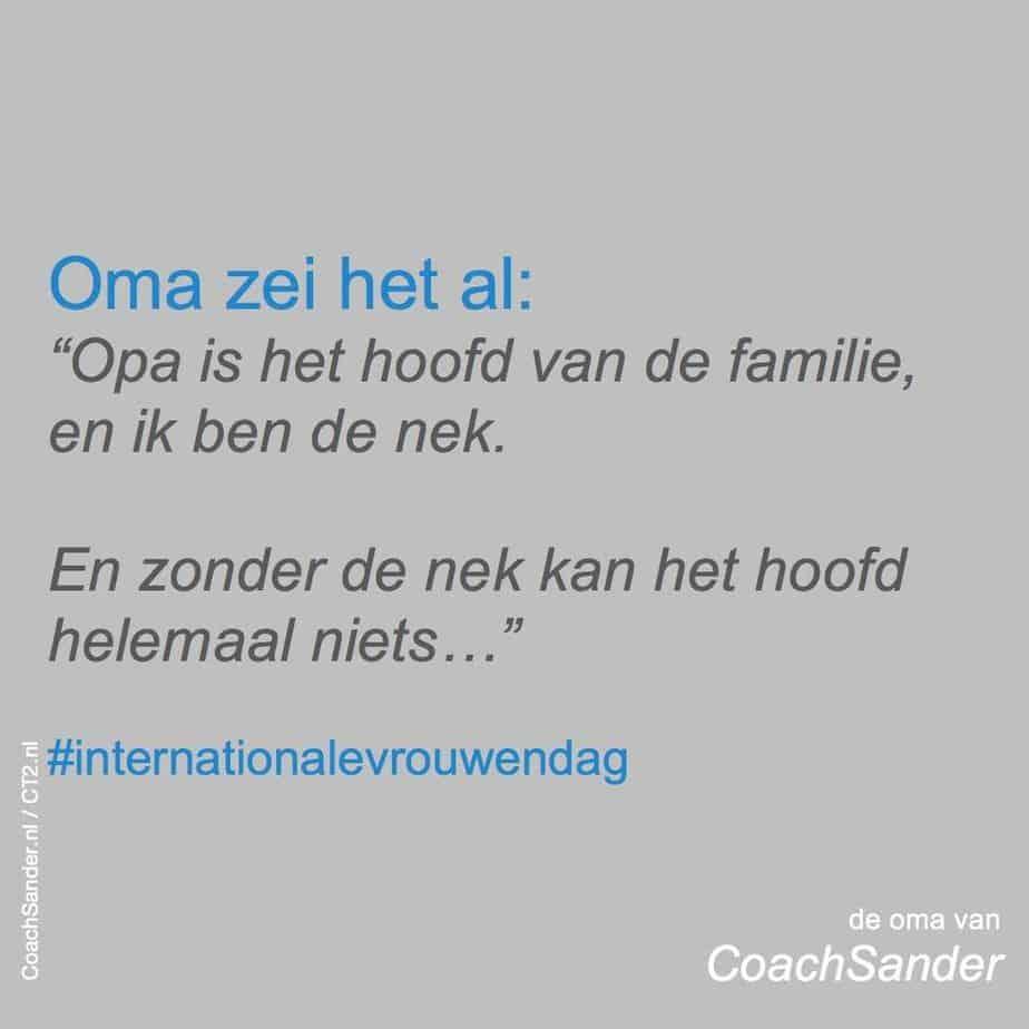 aldus mijn oma - CoachSander.nl